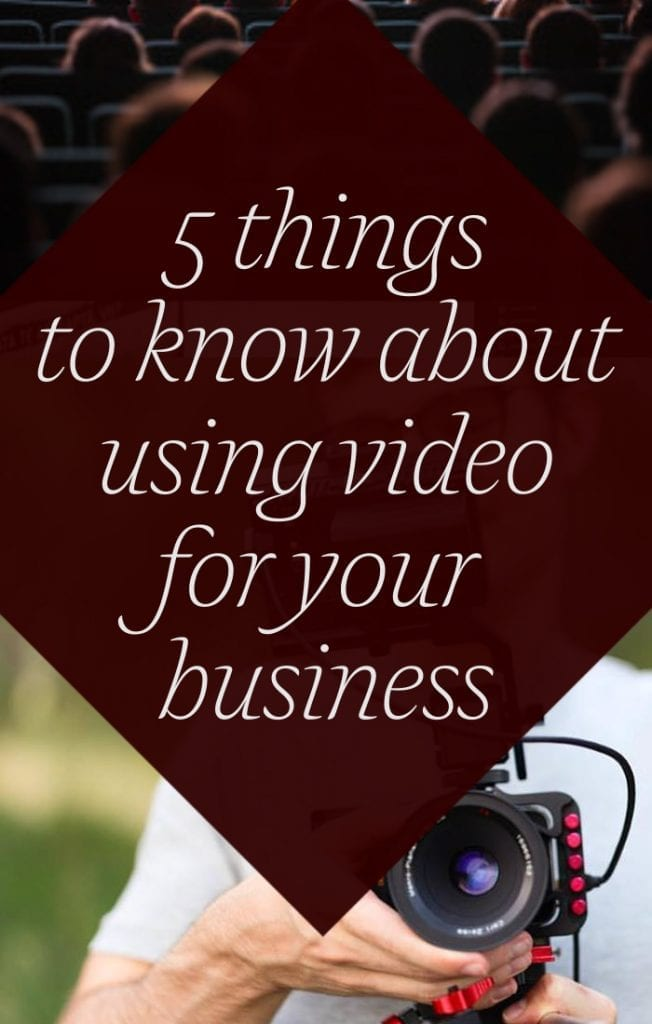 5 things to know about using video for your business image with camera and audience