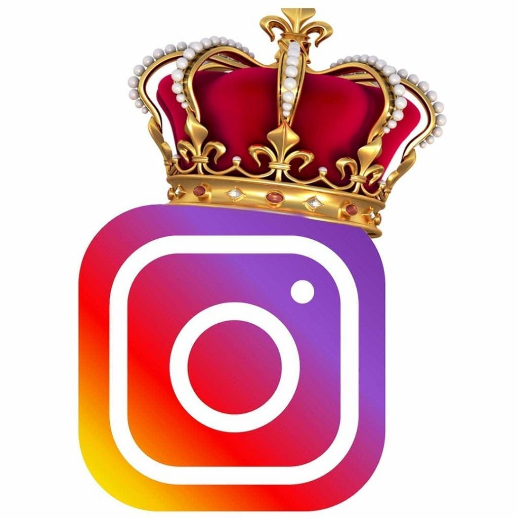 Instagram is the hottest social network of 2019, the logo is wearing a crown
