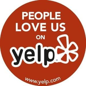 A people love us on yelp sign needs to be earned, but it is a great way to get yelp reviews