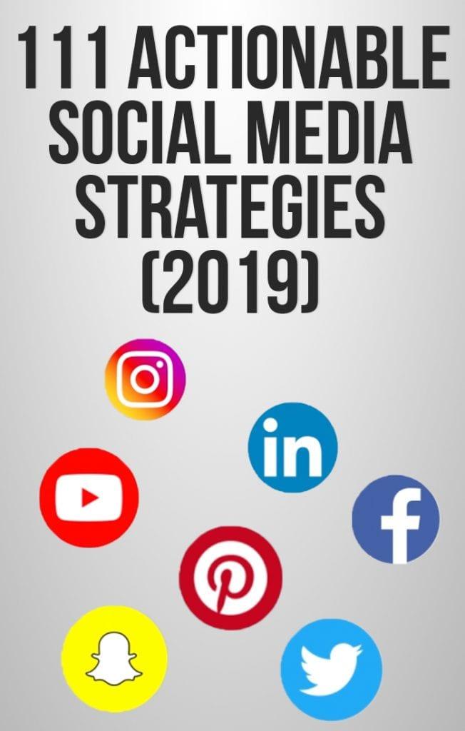 111 social media marketing strategies round up