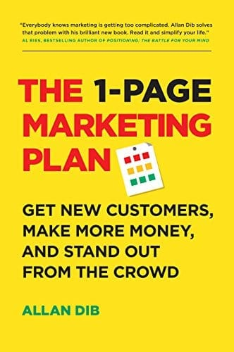 book one page marketing plan small business entrepreneur tip
