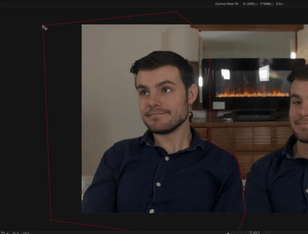 smooth out the lines when you clone yourself in video