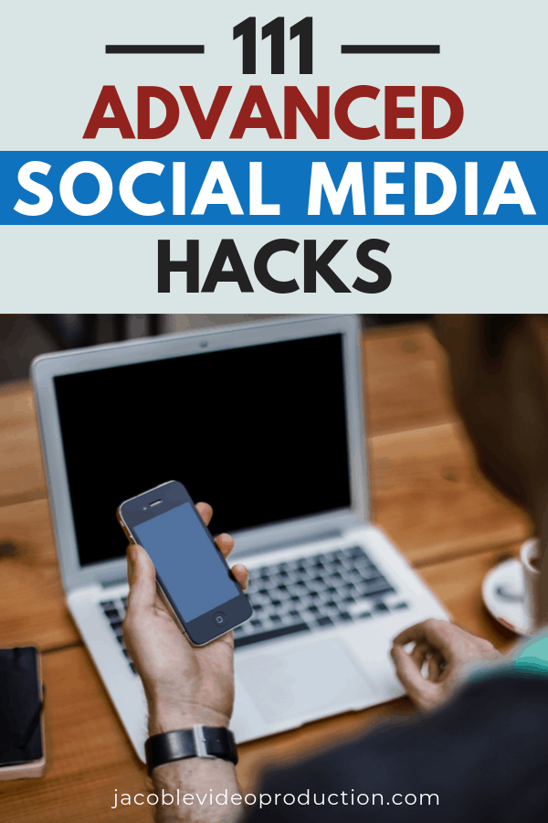 111 advanced social media hacks round up, looking at laptop