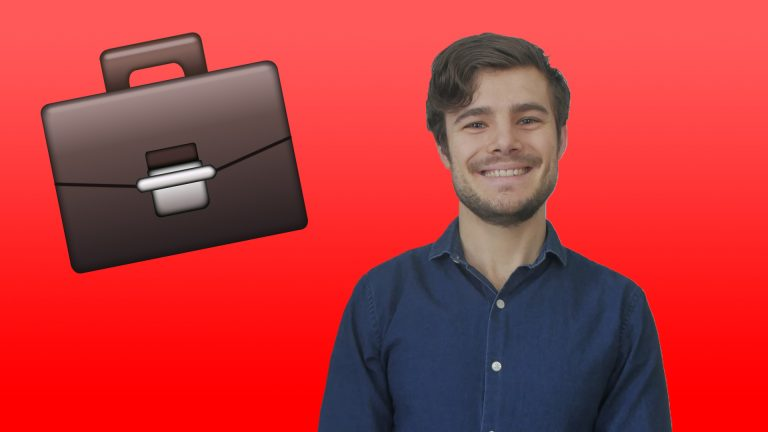 small business entrepreneur solopreneur guide smiling with briefcase