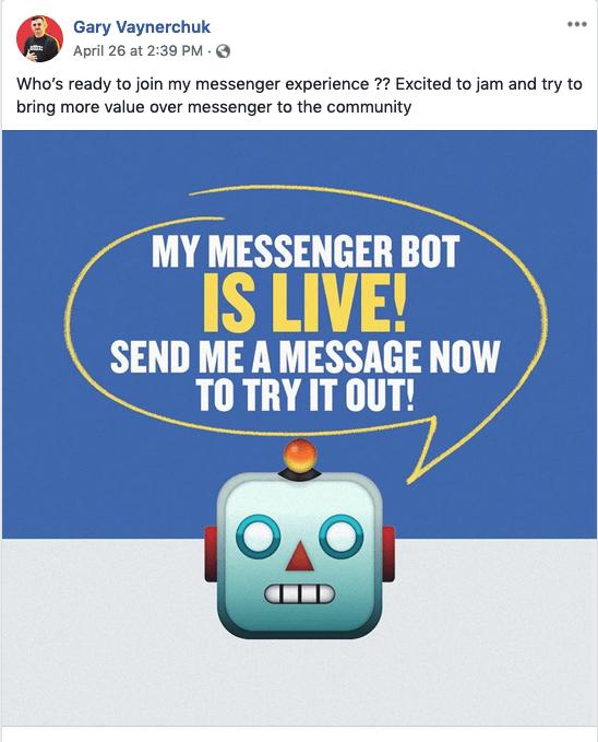 Gary Vee Photo share on Facebook