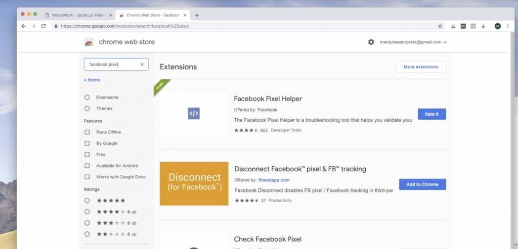 Add the Facebook Pixel to Chrome