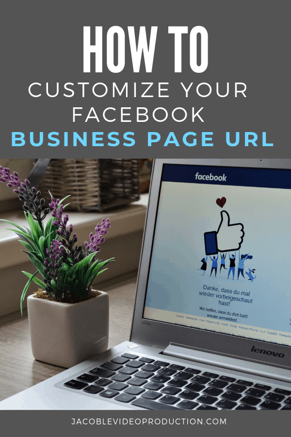 how to customize your facebook business url