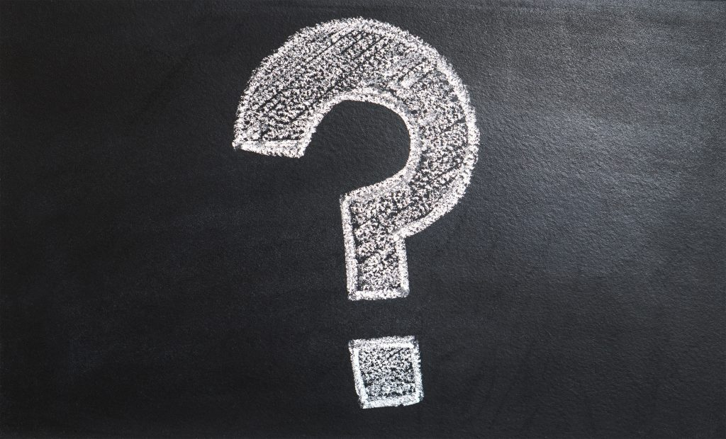 ask smart questions in sales, question mark