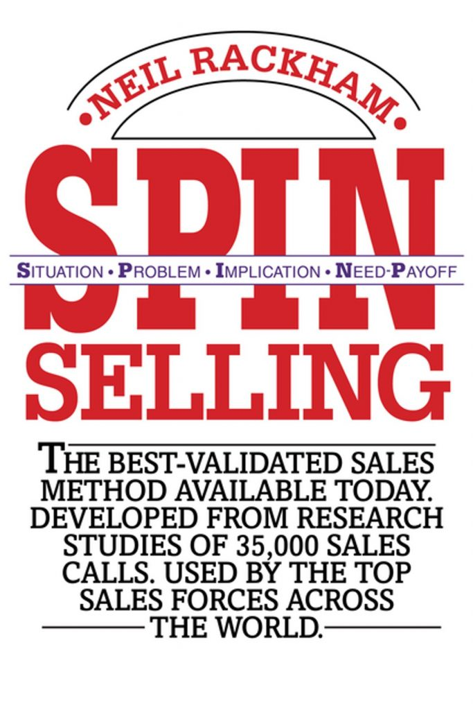 spin selling sales method book cover
