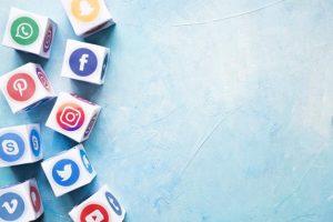 Instagram Blocks With Blue Background