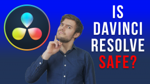 pointing at Davinci Resolve