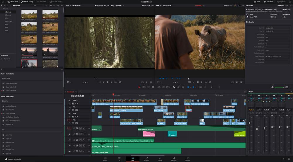 Davinci Resolve Editing Platform