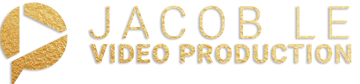 Jacob LE Video Production logo with play button gold